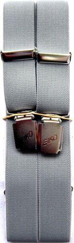 Eiko calidad marcas tirantes 4er clip anchura 2,5 cm gris claro 110-150 cm