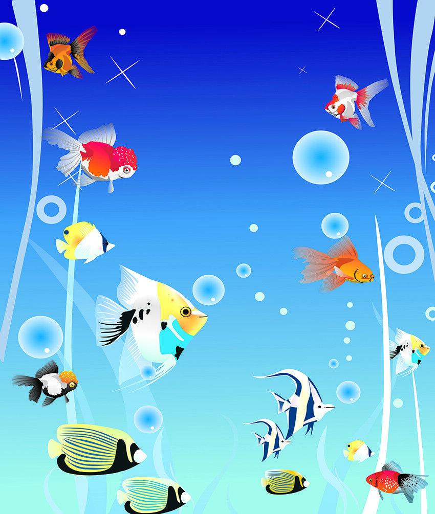 3D Ozean Fisch Helles 89 Tapete Wandgemälde Tapete Tapeten Bild Bild Bild Familie DE Jenny  | Kaufen Sie beruhigt und glücklich spielen  | Lebhaft  | Attraktive Mode  d87f72