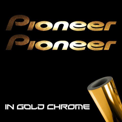 "Details about  /2x Pioneer Decal Sticker 6.0/"" Metallic gold chrome logo die cut"