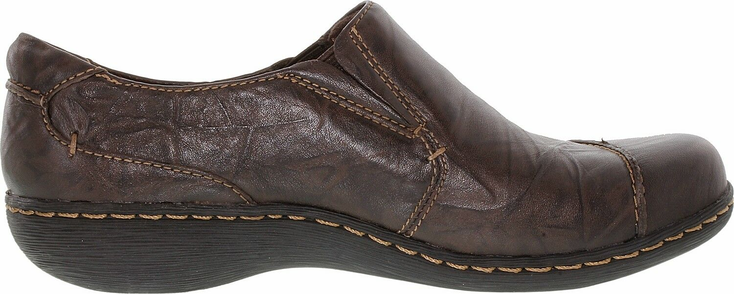 Clarks  Womens Fianna Carlie Brown Leather shoes size 6.5 M NEW (FREE SHIPPING)