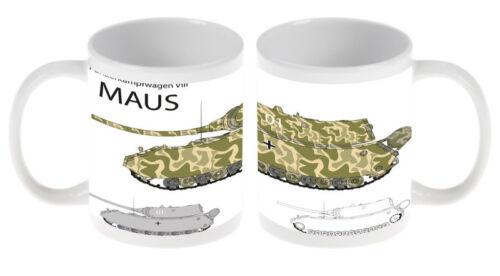 Kaffe Tasse Nostalgie  Panzer Maus Keramik bedruckt