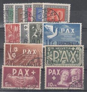 Schweiz-PAX-447-459-gestempelt