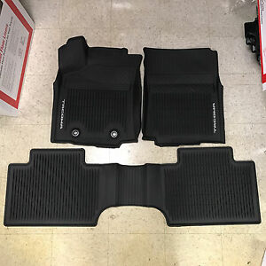 Details About 2016 2017 Toyota Tacoma 3pc Oem All Weather Floor Liners Mats Pt908 36162 20