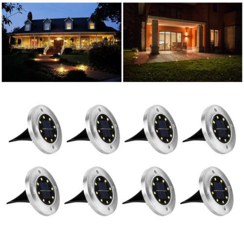 LED Solarlampe Bodenstrahler Gartenlicht Leuchte Bodeneinbau Außen-Beleuchtung D