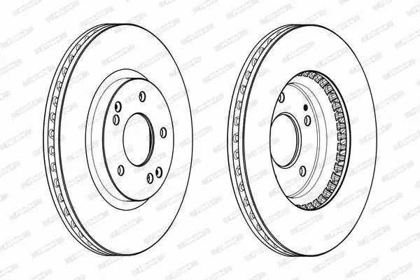 Ferodo DDF2091C Brake Disc Set Coated Front Axle
