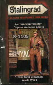 Stalingrad-1-35-WWI-British-Tank-Crewman-3-Resin-Figure-Kit-S-1105U