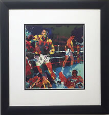 "LeRoy Neiman ""Ali-Foreman - Ziare"" FRAMED  Art print BOXING Rumble in the Jungle"
