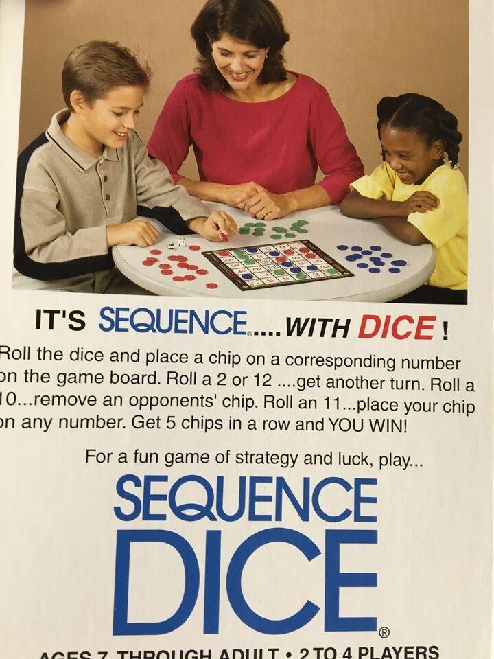 Sequence DICE, Familie spil, brætspil