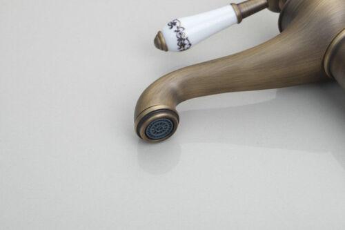 Contemporary Antique Brass Bathroom Sink Basin Faucet Mixer Water Tap