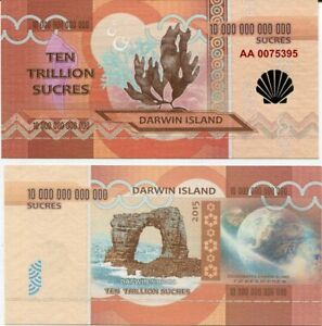 DARWIN ISLANDS 1 TRILLION SUCRES 2015 CORAL UNC