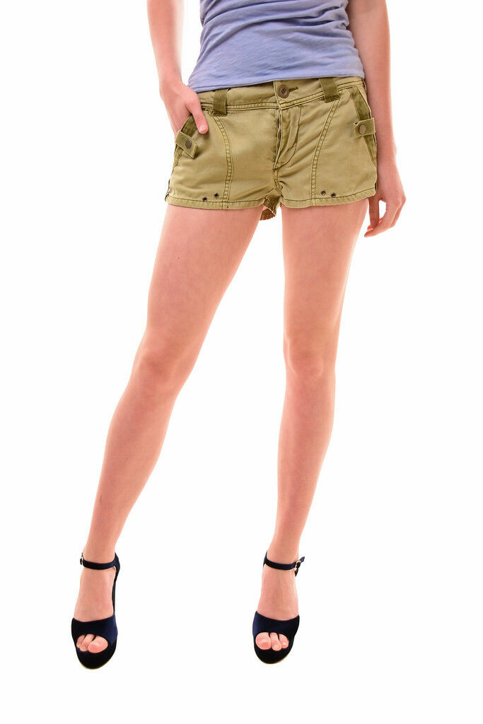 Free People Women's NBW Itsy Bitsy Military Shorts Green Size XS RRP 67 BCF77