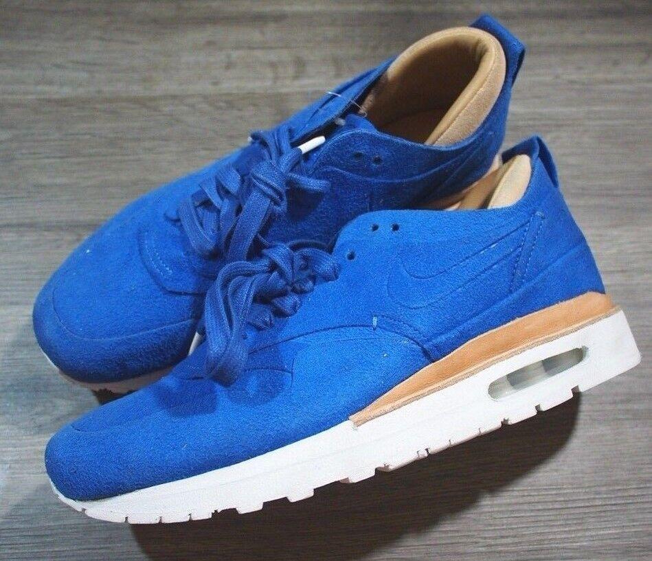 Rare Nike Air Max 1 Royal Mens 8 bluee Suede Beige Tan White  235 C104