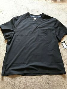 NWT-Men-s-Black-DICKIES-DYNAMIX-Scrub-Top-Size-3XL-NEW-WITH-TAGS