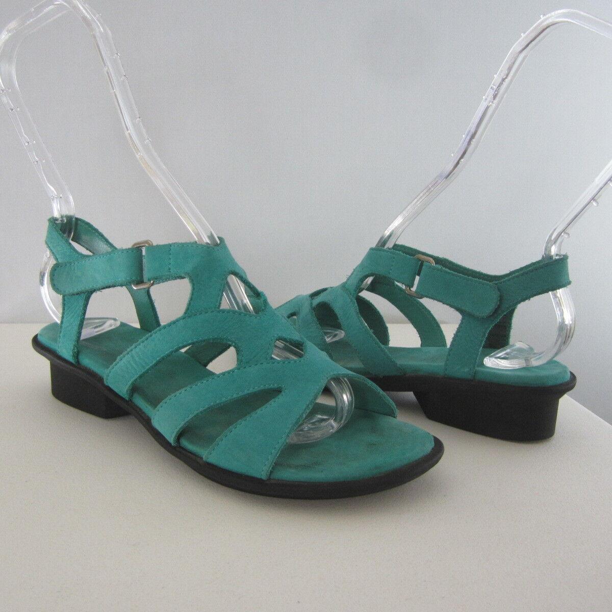 ARCHE Damenschuhe US 5 M EUR    36 Turquoise Blau Nubuck Leder Ankle Strap Sandales 8e85c2