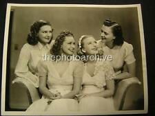 LOLA PRISCILLA  LANE FOUR DAUGHTERS 1930s w/CREDIT  VINTAGE PHOTO 676S