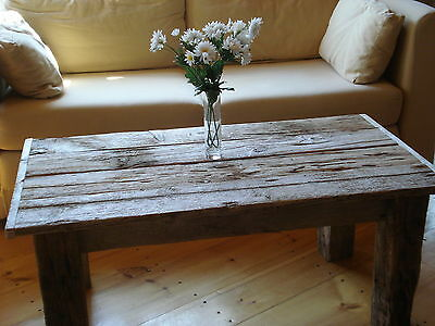 Driftwood Coffee Table 42 X 22 Wide X 16 H Whitewashed New Pictures Soon Ebay