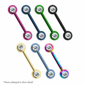 Nipple-Ring-14g-Double-CZ-Titanium-Anodized-Surgical-Steel-1Pc