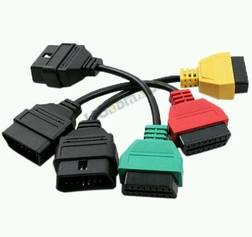kit 3 adattatori per di Fiat alfa lancia per interfaccia OBD per elm 327 scan