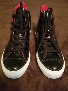 2a59d55fc94d Men s Chuck Taylor Converse High Top 111131 Black Red Patent Leather ...