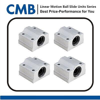 4pcs SC10UU SCS10UU Linear Motion Bearing Slide Unites Pillow Block 10mm for CNC
