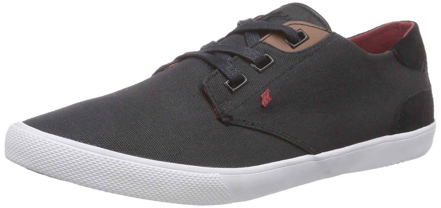 Boxfresh Canvas Stern Negro Rojo Waxed Canvas Boxfresh Hombre Trainers Zapatos 86e0fb