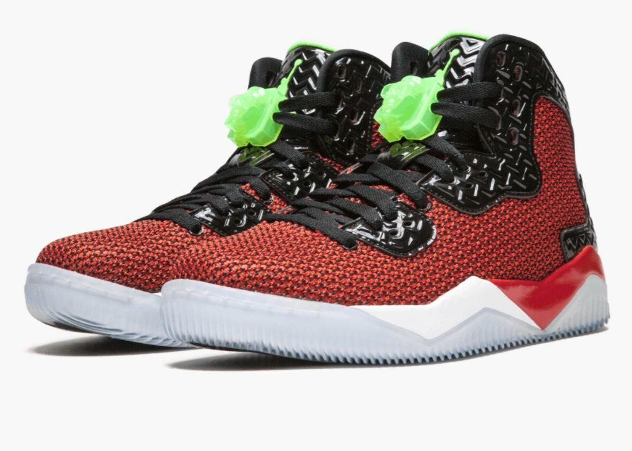 NIB Air Jordan Spike Forty Basketball shoes, UNVRSTY RED GHST GRN-BLK-WHITE - 12