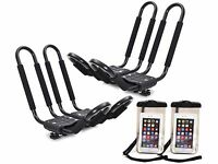 2 X Roof J Rack Kayak Boat Canoe Car Suv Top Mount Carrier W/free Cell Phone Bag on sale