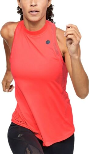 Red Under Armour Rush Vent Womens Training Vest Tank Top