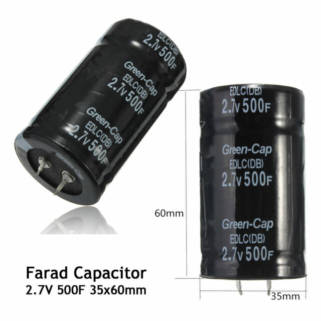 Car Automobile Farad Capacitance Capacitor 2.7V 500F 35 x 60MM Super CapacitorCG