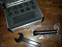 ER16 Milling Collet Set for Clarke CMD300 Mill, Metric MT3 Spindle Fitting Cased