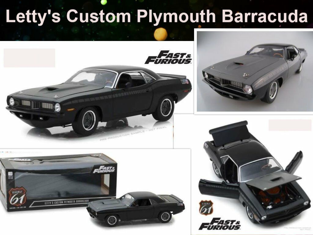 FAST & FURIOUS 7  Plymouth Barracuda  Highway 61  Maßstab1 18  OVP  NLIMITED