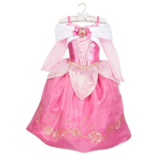 Disney Store Aurora Costume Dress Gown Girls 4,5//6,7//8 SLEEPING BEAUTY NEW