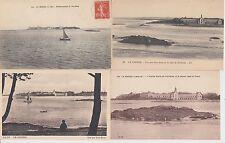Lot 4 cartes postales anciennes LE CROISIC pen-bron