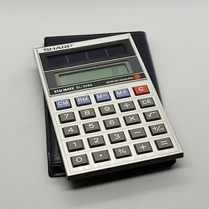 Vintage SHARP ELSI MATE EL-326A Solar Cell Calculator made in Japan Pre-owned