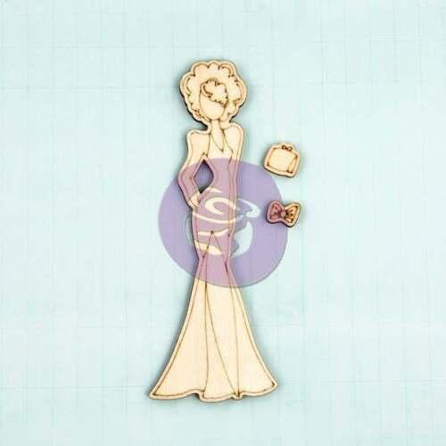 """Prima Julie Nutting WOOD 7/"""" Doll MORGAN 910617 pretty dress big hair 3 pieces"""