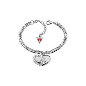 Guess-Schmuckstuecke-Armband-Damen-Stahl-mit-Herz-Und-Herg-UBB11491-Neu