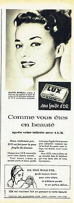 Breweriana, Beer Publicité Advertising 078 1957 Savon Lux Feuille D'or Jeanne Moreau