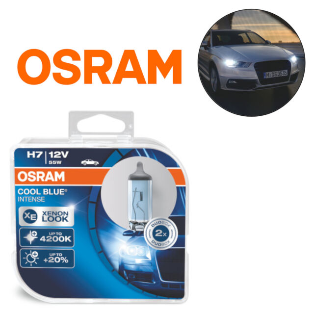 Osram Cool Blue Intense H7 55W 12V Headlight Bulbs 4200k Duo Pack 64210CBI-HCB