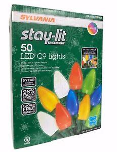 Sylvania-stay-lit-Platino-50-LED-C9-Muy-Brillante-Luces-Multicolor-Retro
