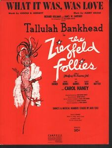 What-It-Was-Was-Love-1956-Tallulah-Bankhead-The-Ziegfeld-Follies-Sheet-Music