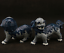 "thumbnail 3 - 6.3"" China Jingdezhen Blue White Porcelain Foo Fu Dog Guardion Lion Statue Pair"