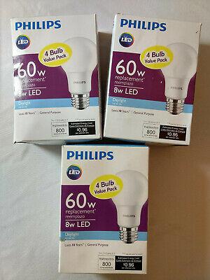 Phillips 60W 8W LED Daylight 4pk