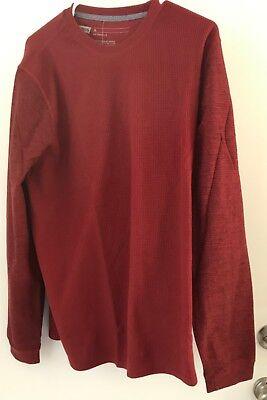NWT~Men/'s~Xavier Navy Long-Sleeve Cotton Waffle Knit Thermal Shirt Goodfellow