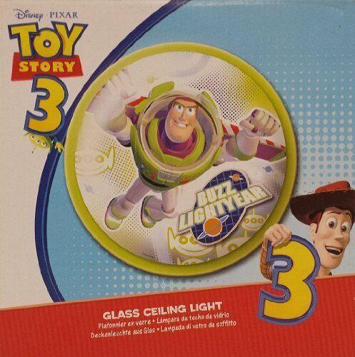Glass Ceiling Light Disney//Pixer Buzz Light Year Flush Fitting Kids Bedroom Fun