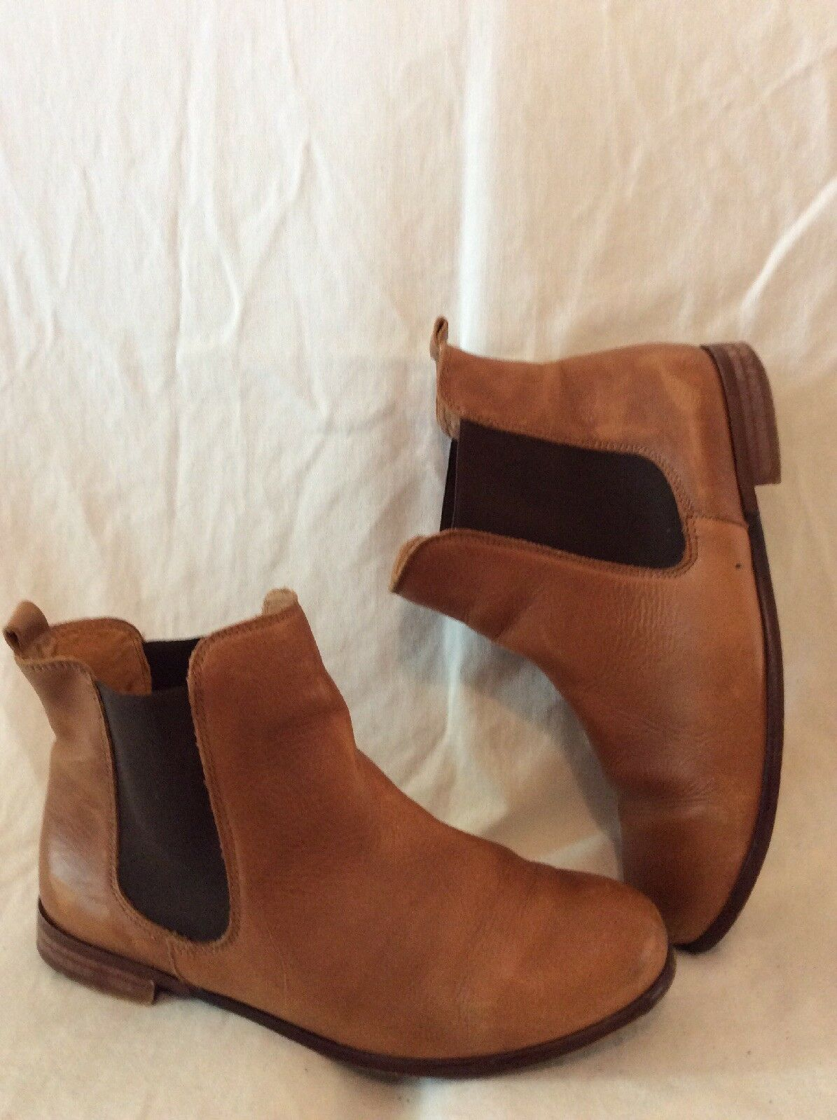 Top Shop Brown Ankle Leather Boots Size 41