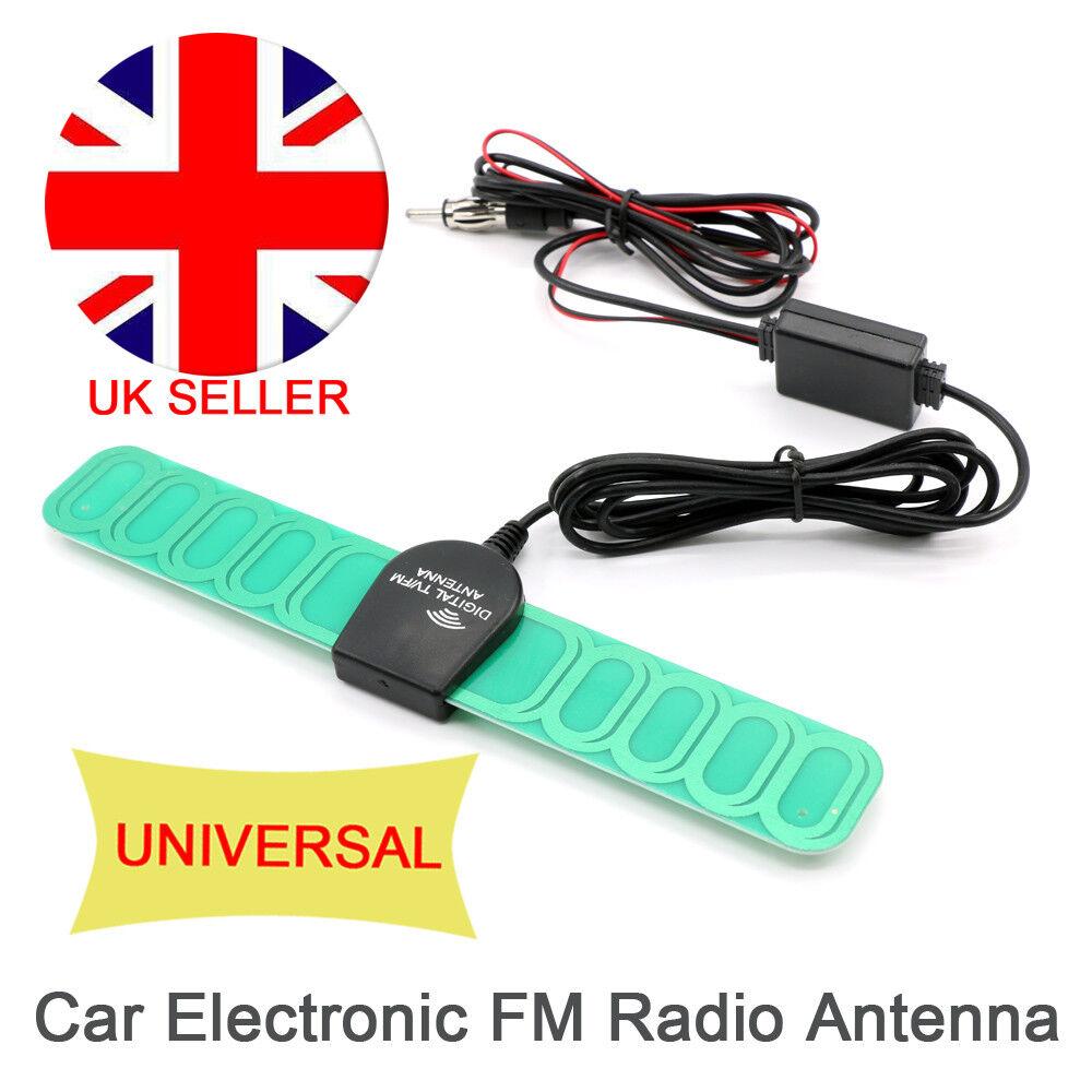 Universal Car Radio Antenna Aerial Fm Signal UK Booster Amplifier Digital