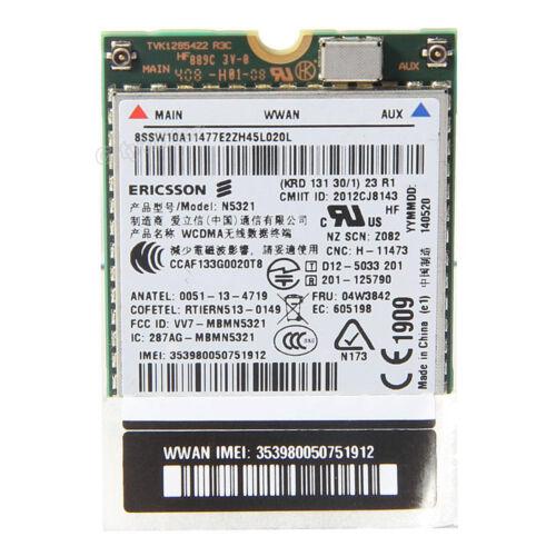Ericsson N5321GW Wireless 3G WWAN NGFF Card For IBM X230s X240 W540 FRU 04W3842
