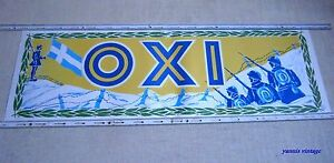 034-OHI-034-OXI-POSTER-NEW-FOLDED-OBLONG-GREEK-GREECE-VTG-AGYRA-28-OKTOBRIOU