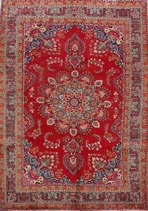 Vintage-Floral-Ardakan-Hand-Made-Area-Rug-7x10-Wool-Living-Room-Oriental-Carpet