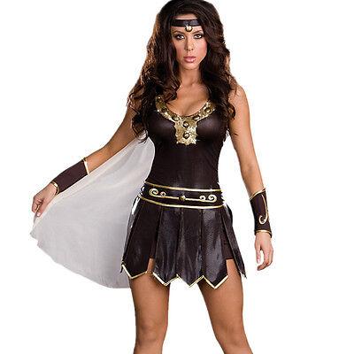 M-XXL Ladies Xena Gladiator Warrior Princess Roman Spartan Fancy Dress Costume